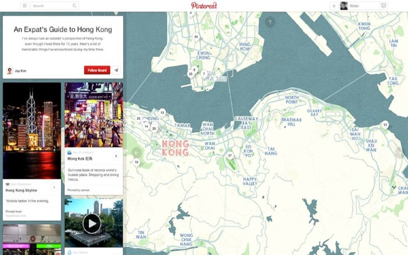 CREATE MAP WITH PINS ON PINTEREST